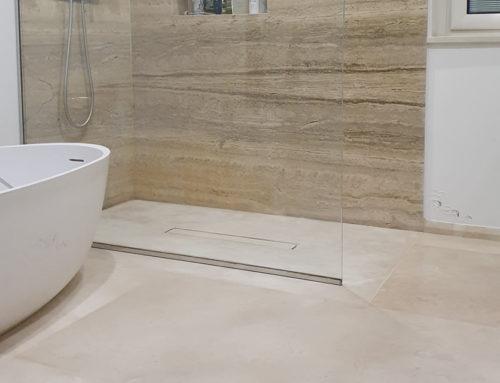 """Piatti doccia """"WALK IN"""" in pietra naturale"""